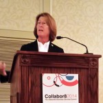 Christine Taylor of Michigan Workers presenting at Collabor8 2014