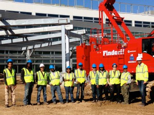 Foundations for the Trades tour at Findorff construction site