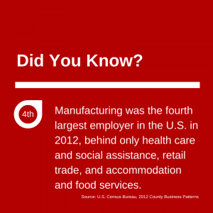 Manufacturing Largest Employer