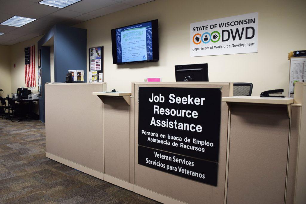 The Dane County Job Center's resource desk.