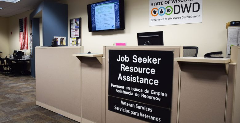 The Dane County Job Center's resource desk.