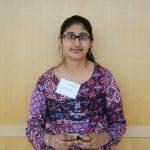 Preet Pangli poses with her Aspire Award.