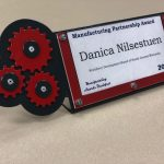 Danica Nilsestuen's plaque from the Dodge County MBA awards