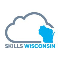 Skills Wisconsin cloud with blue Wisconsin