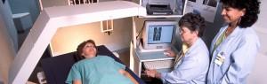 Medical staff scanning