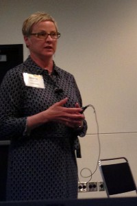 Marla Rybowiak of the Employer Group speaking at the MW Summit