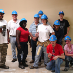 Construction Apprenticeship Readiness Training Program graduates on a job site