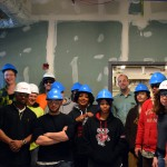 Foundations for the Trades Academy participants touring the new UW Health at the American Center in March 2015