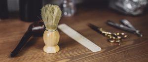 Set of barbershop tools.