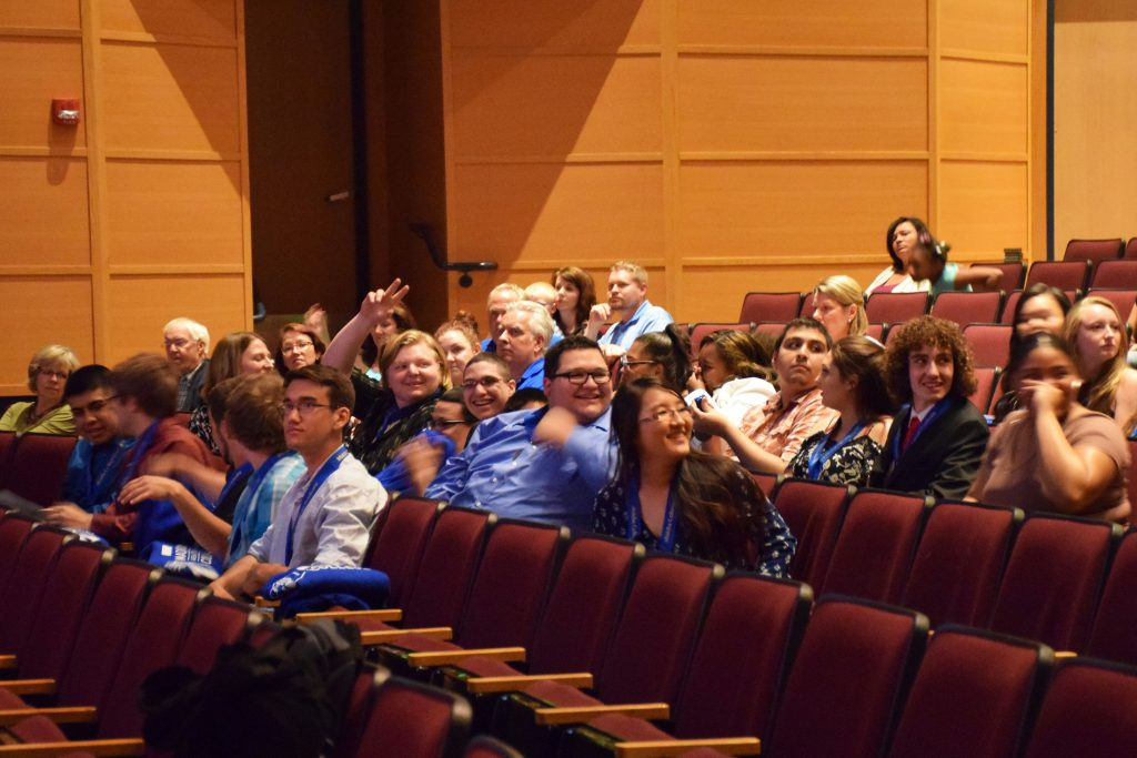 The Middle Class graduates celebrate their completion of the two-semester program.