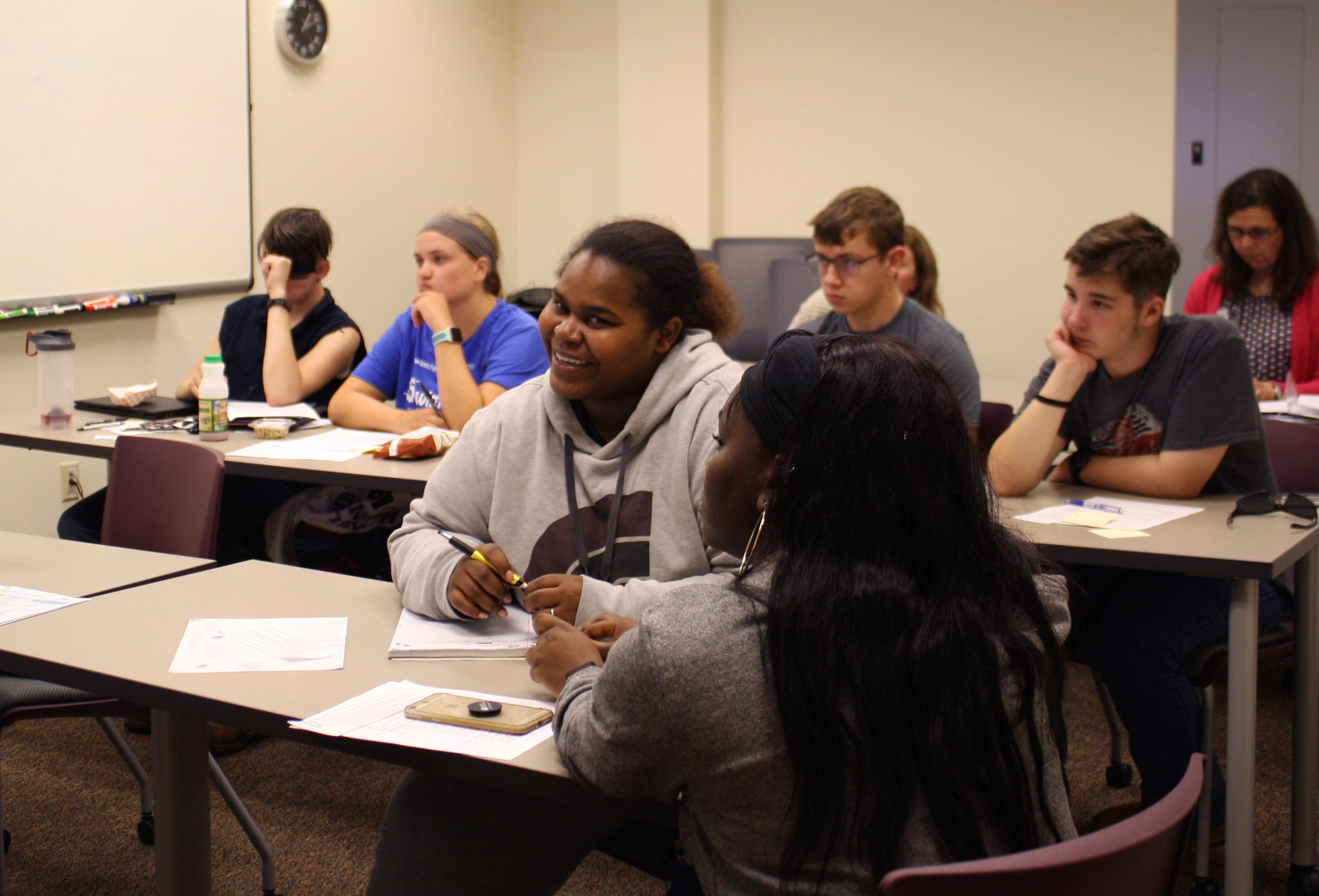STEPS participants learn about employability skills.