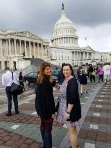 WDBSCW Board Chair, Pam Christensen of Madison Gas and Electric, and Laura Cataldo of Maxim Consulting, Hit-the-Hill on their last day in D.C.