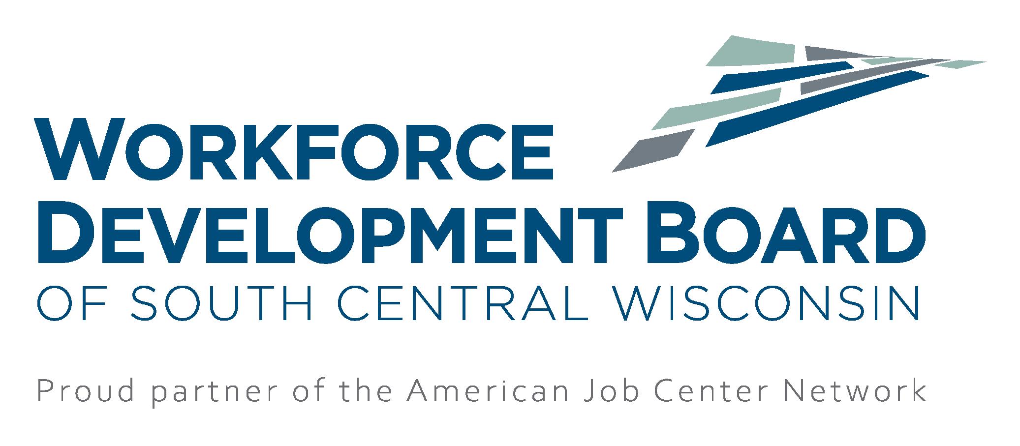 Workforce development Board of South Central Wisconsin logo with AJC tagline